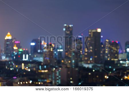 City blurred lights night view abstract background