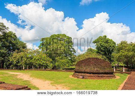 Ruins of ancient Singhalese capital city Polonnaruwa in Sri Lanka
