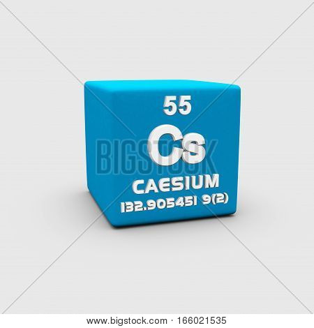 Caesium or cesium is a chemical element with symbol Cs and atomic number 55.