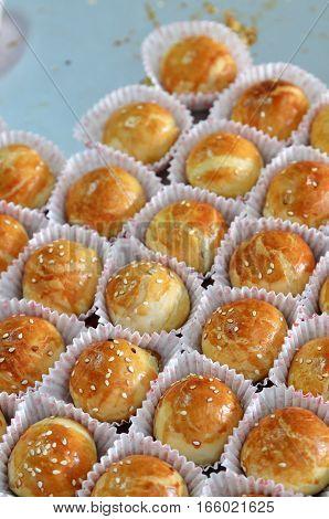 Penang famous local delight Tau Sar Pneah or Green Bean Biscuit