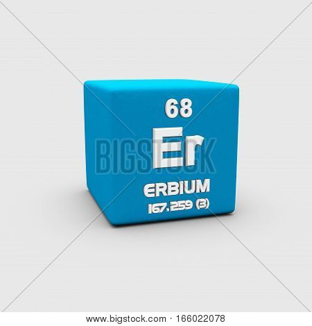Erbium is a chemical element in the lanthanide series, with symbol Er and atomic number 68.