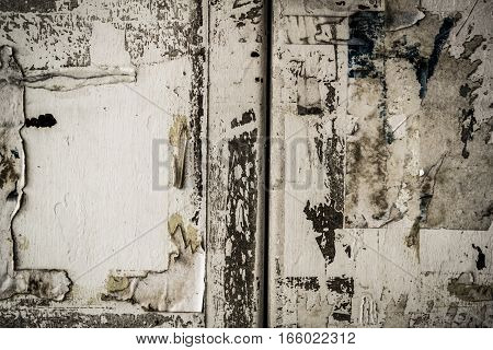 Metal, metal texture, iron metal, painted metal, metal door, torn posters, grunge metal background