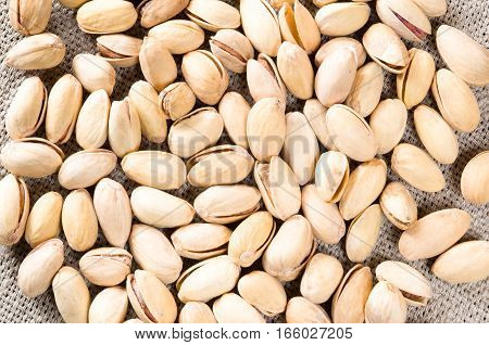 Top View Of A Lot Of Salty Pistachios