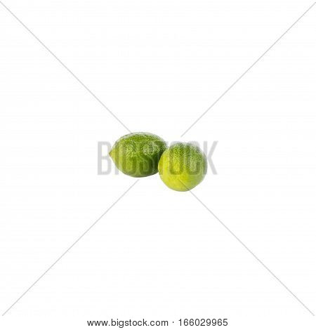 Fresh Green Lime, Isolated On White