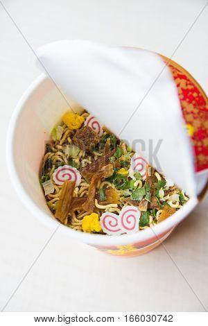 a generous ingredient of Japan's instant noodles