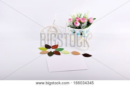 mock up objects isolated on white background with copy space, front view