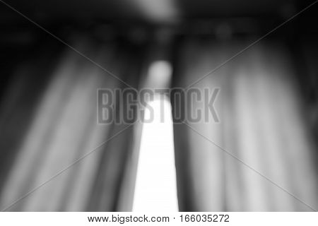 Black and white window curtains bokeh background hd