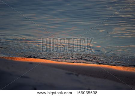 sun reflecting in the waves, close up