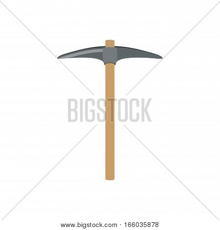 pickaxe construction tool icon design vector illustration
