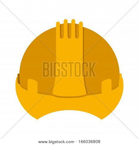 yellow construction safety helmet icon vector illustration