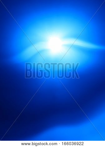 Vertical blue flying creature bokeh background hd