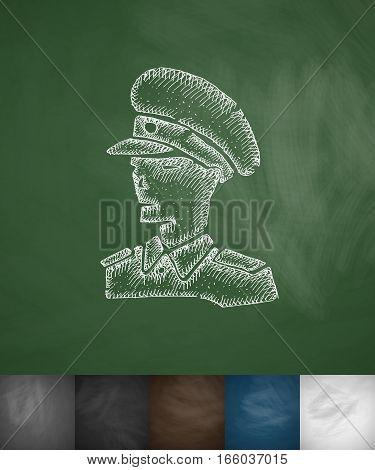 general icon. Hand drawn vector illustration. Chalkboard Design