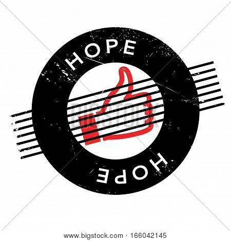 Hope rubber stamp. Grunge design with dust scratches. Effects can be easily removed for a clean, crisp look. Color is easily changed.