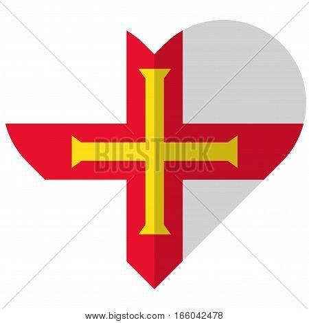 Guernsey Flat Heart Flag