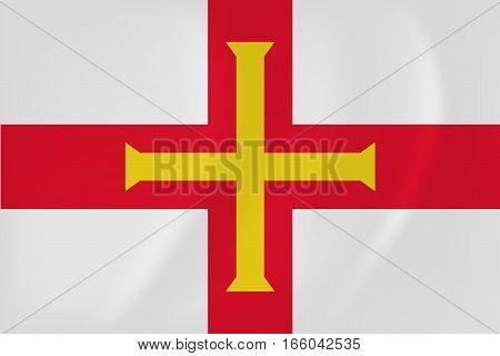 Guernsey Waving Flag