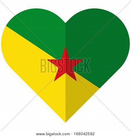 Guiana Flat Heart Flag