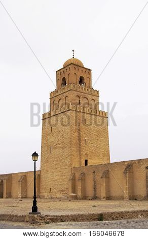Minaret of the Mosque of Uqba, Kairouan, Tunisia