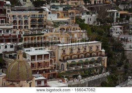 15 april 2011-positano-italy-view of the town of Positano on the Amalfi coastitaly