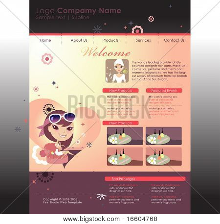 website template for beauty company