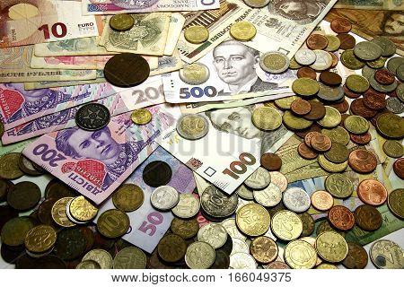 Collection Of Monetary Currency World