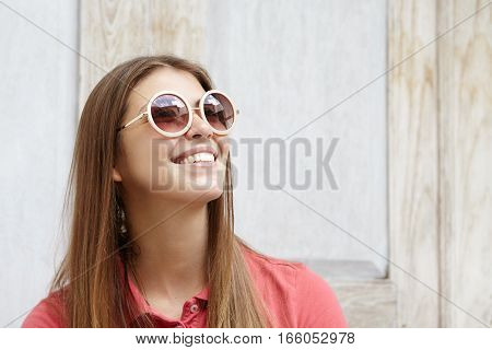 Fashionable Young Woman Having Romantic Look Spending Spare Time Indoors. Beautiful Female Model In