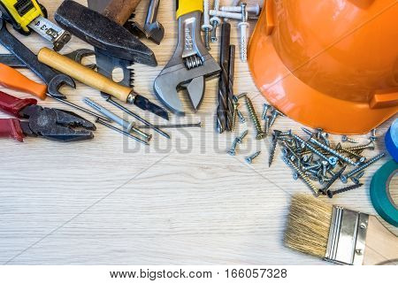 Many construction tools, construction composition tool suitcase,