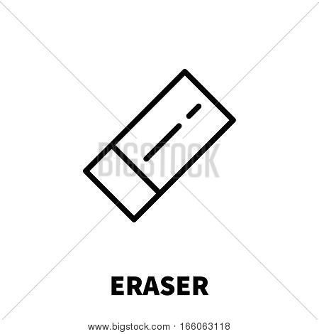 Eraser icon or logo in modern line style. High quality black outline pictogram for web site design and mobile apps. Vector illustration on a white background.