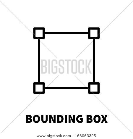 Bounding box icon or logo in modern line style. High quality black outline pictogram for web site design and mobile apps. Vector illustration on a white background.
