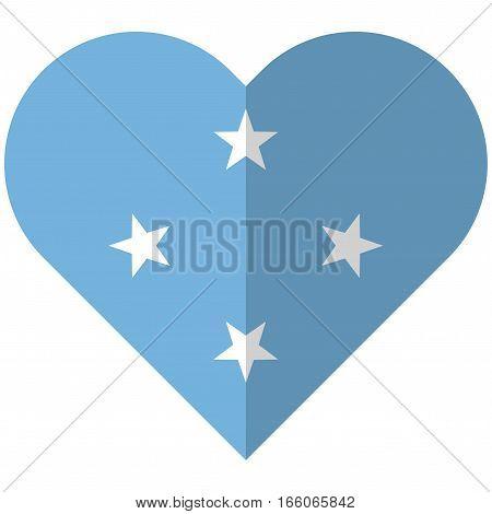 Micronesia Flat Heart Flag