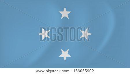 Micronesia Waving Flag