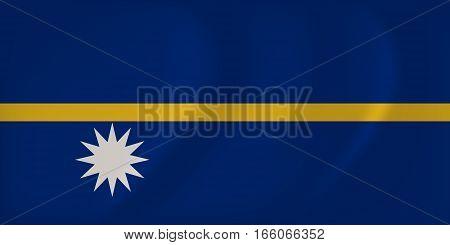 Nauru Waving Flag