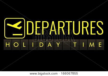 Text Flip Of Board Of Airport Billboard With Words Name Holiday Time, Travel, Holiday And Relax