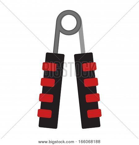 Expander for hand. Sport equipment for forearm. Vector illustration