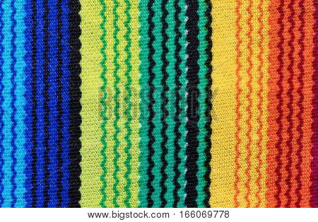 Close up of colorful serape for Cinco de Mayo holiday concept.