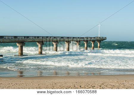 The landmark pier at Shark Rock in Port Elizabeth South Africa