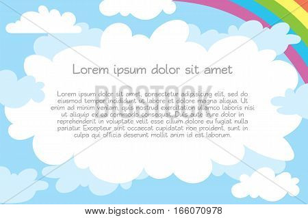 Children's template for advertising brochure. Ready for your message. Lorem ipsum. Vector illustration. Isolated on white background