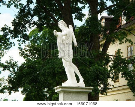 Statue of Apollo in front of Court Theater of Drottningholm Palace, Stockholm, Sweden