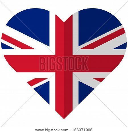 United Kingdom Flat Heart Flag