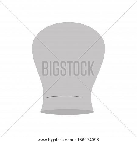gray scale silhouette of chefs hat rounded vector illustration