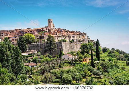 Saint-Paul-de-Vence a old historic village in France.