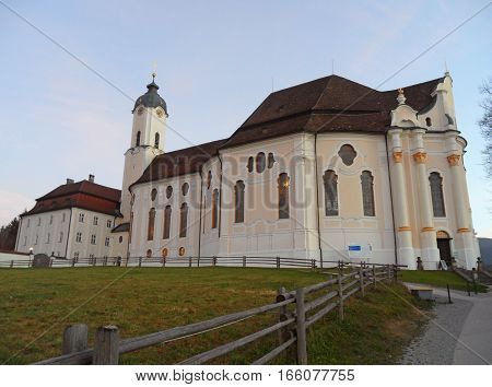 The Wieskirche or Pilgrimage Church of the Scourged Saviour in Bavaria, Germany