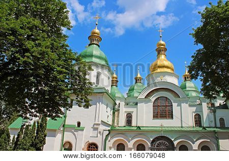 Famous Saint Sophia Cathedral in Kyiv, Ukraine