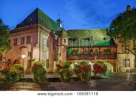 Koifhus (Old Custom House) is a historical monument located in Colmar French. It is the oldest local public building. Evening