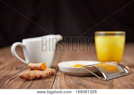 Golden Milk Turmeric Tea With Curcuma