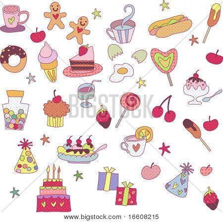 sweet party food set