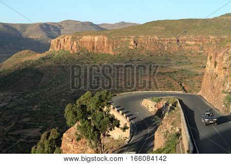 Pass roads from the Rift Valley of Ethiopia