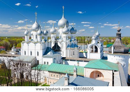 Assumption Cathedral And Church Of The Resurrection In Rostov Kremlin, Russia