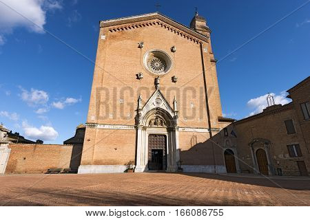 Basilica of San Francesco (XIII century) in the ancient town of Siena. Toscana (Tuscany) Italy Europe