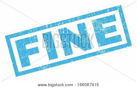 Fine text rubber seal stamp watermark. Caption inside rectangular shape with grunge design and dust texture. Inclined vector blue ink sticker on a white background.