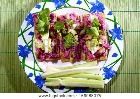 Vegetarian breakfasts - vegan food - healthy lunch
